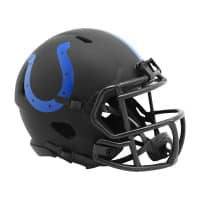 Indianapolis Colts Riddell Eclipse Black Matte NFL Speed Mini Helm