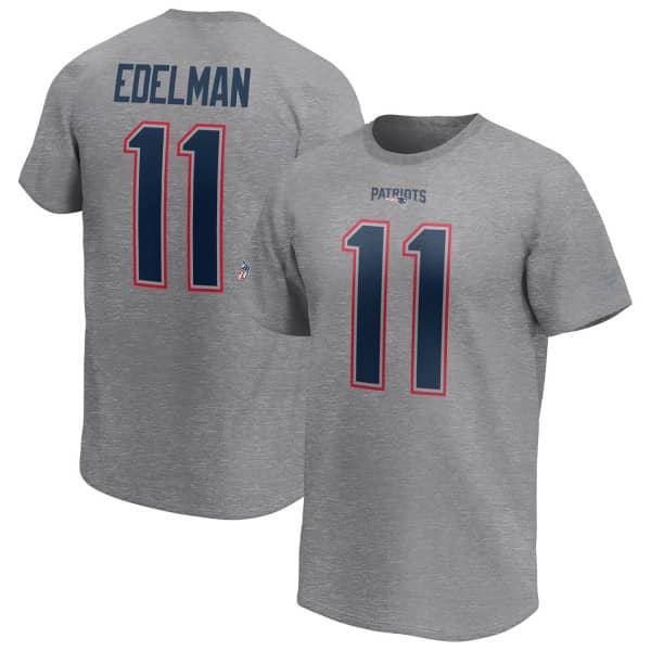 Julian Edelman #11 New England Patriots Fanatics Player NFL T-Shirt Grau