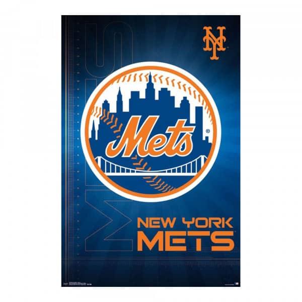 premium selection dee83 93ffc New York Mets Team Logo MLB Poster RP14689   TAASS.com Fan Shop