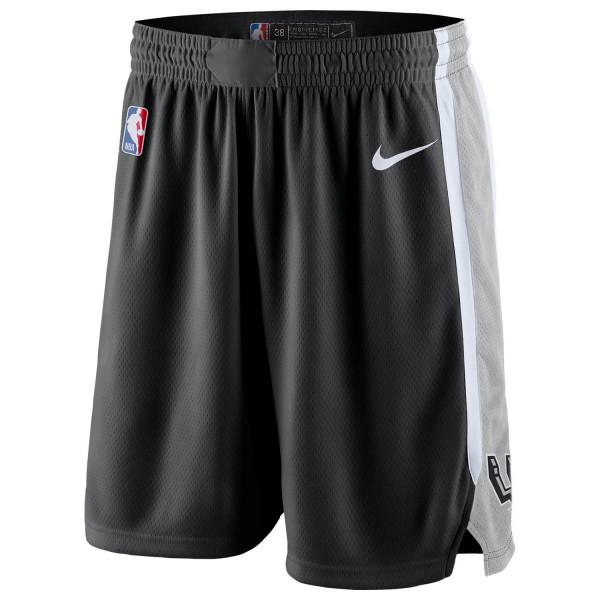 San Antonio Spurs Nike Icon Swingman NBA Shorts Schwarz