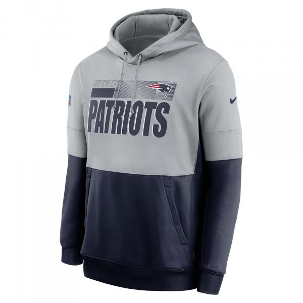 New England Patriots 2020 NFL Sideline Lockup Nike Therma Hoodie