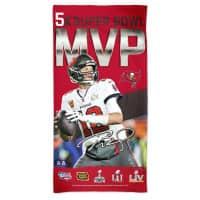 Tom Brady 5x Super Bowl MVP NFL Strandtuch
