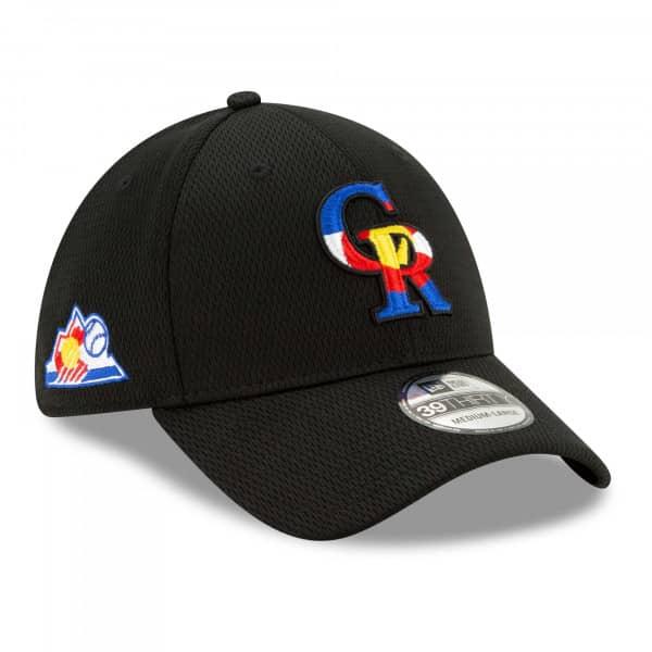 Colorado Rockies 2021 MLB Batting Practice New Era 39THIRTY Flex Cap