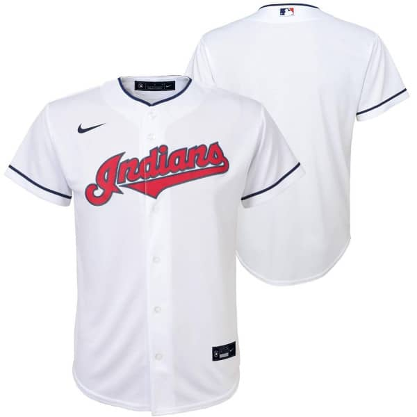 Cleveland Indians Youth MLB Replica Home Trikot Weiß (KINDER)