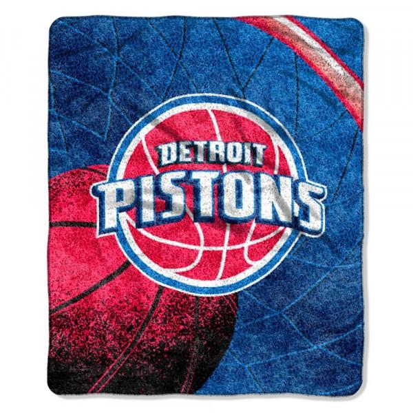 size 40 afbdb 21a48 Northwest Detroit Pistons Sherpa Basketball NBA Throw   TAASS.com Fan Shop