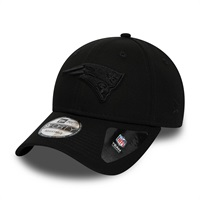 New England Patriots Black on Black 9FORTY Snapback NFL Cap