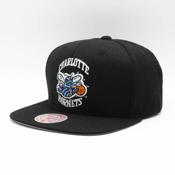 Charlotte Hornets Wool Solid Mitchell & Ness Original Fit Snapback NBA Cap