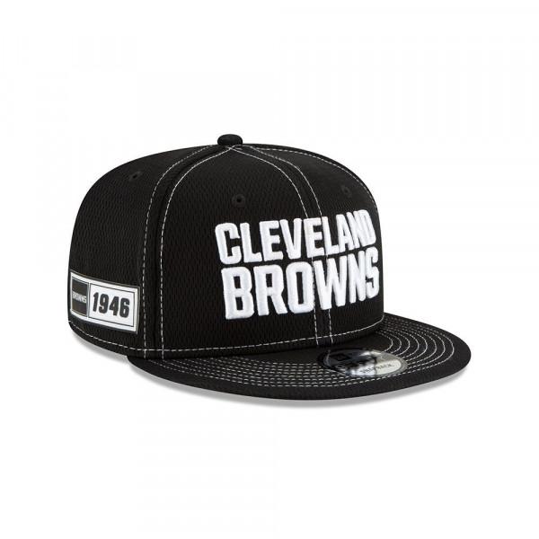 Cleveland Browns 2019 NFL Sideline Black 9FIFTY Snapback Cap Road