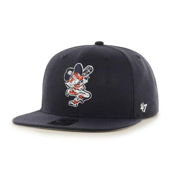 Detroit Tigers Cooperstown No Shot Captain Snapback MLB Cap