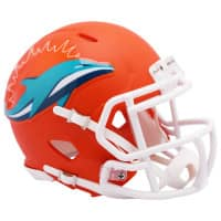 Miami Dolphins AMP Alternate NFL Speed Mini Helm
