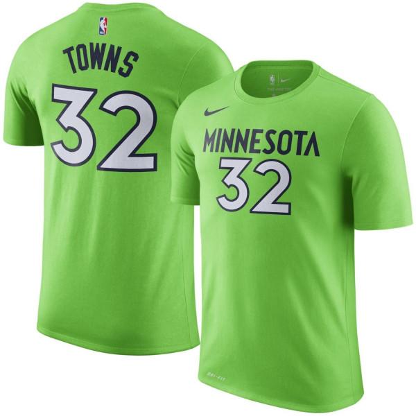 0ebe39d0b9d Nike Karl-Anthony Towns #32 Minnesota Timberwolves Player NBA T-Shirt Green  | TAASS.com Fan Shop