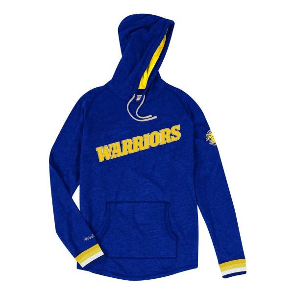 e7f3345b Mitchell & Ness Golden State Warriors Lightweight Pullover NBA Hoodie Blue  | TAASS.com Fan Shop