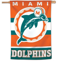 Miami Dolphins Throwback WinCraft Vertical NFL Fahne