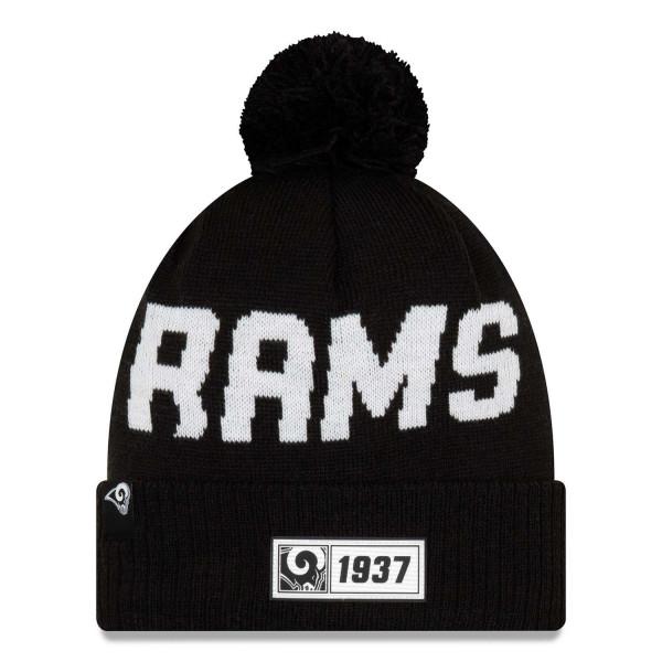 Los Angeles Rams Black 2019 NFL Sideline Sport Knit Wintermütze Road