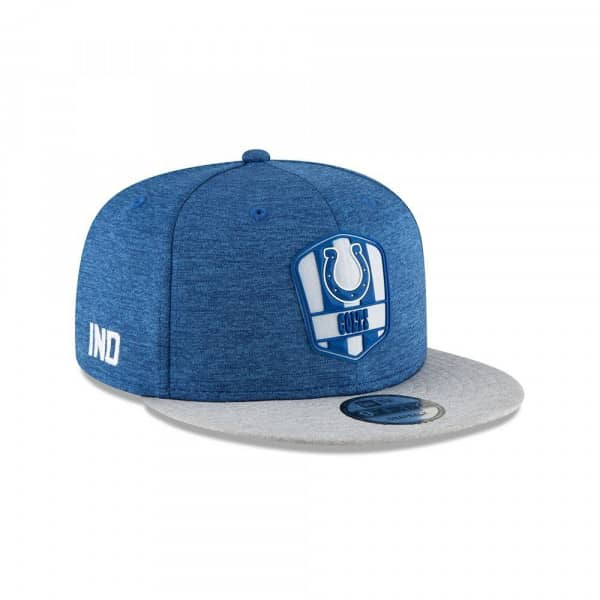 Indianapolis Colts 2018 NFL Sideline 9FIFTY Snapback Cap Road