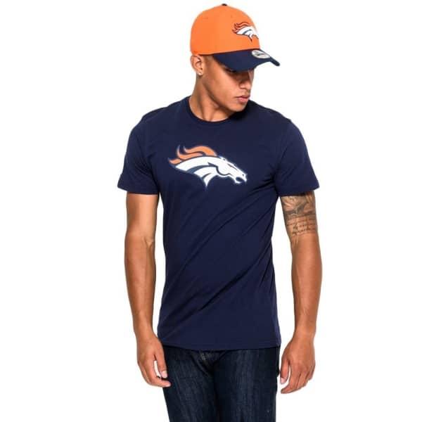 Denver Broncos Team Logo Football NFL T-Shirt Navy