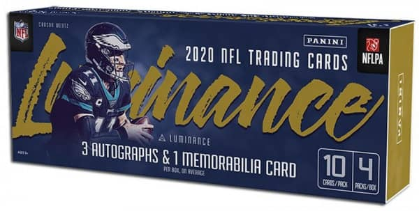 2020 Panini Luminance Football Hobby Box NFL