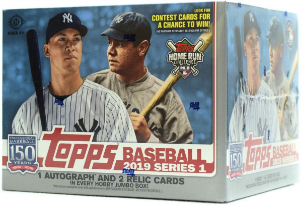 2019 Topps Series 1 Baseball Jumbo Box MLB
