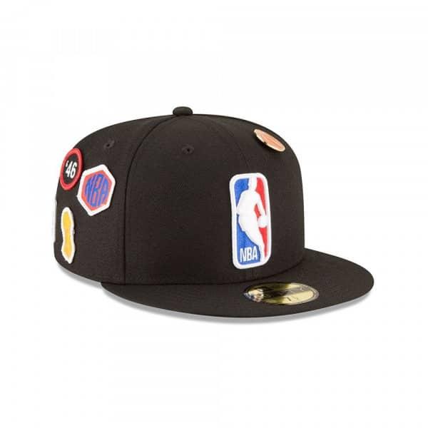 buy online 0a55e f706a New Era NBA Logo 2018 NBA Draft 59FIFTY Fitted Cap Black   TAASS.com Fan  Shop