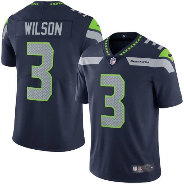 Russell Wilson #3 Seattle Seahawks Nike Vapor Limited NFL Trikot Navy