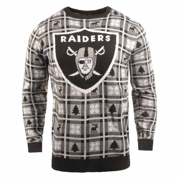 Las Vegas Raiders Big Logo NFL Ugly Holiday Sweater