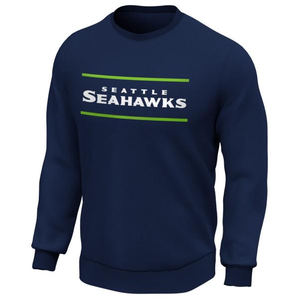 Seattle Seahawks 2020 Doorbusters Coach Fanatics Core NFL Crewneck Pullover