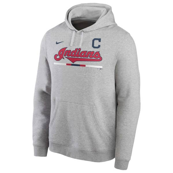 Cleveland Indians Color Bar Nike Club Fleece MLB Hoodie