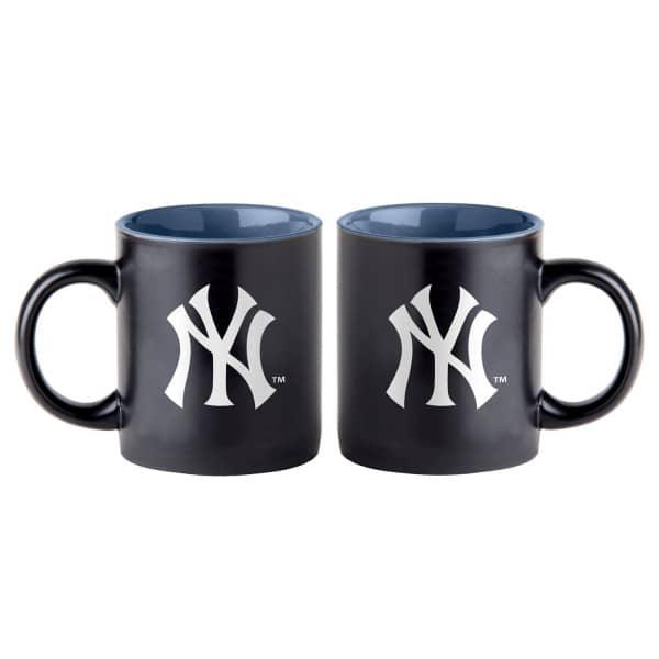 New York Yankees Black Matte Jumbo MLB Becher (415 ml)