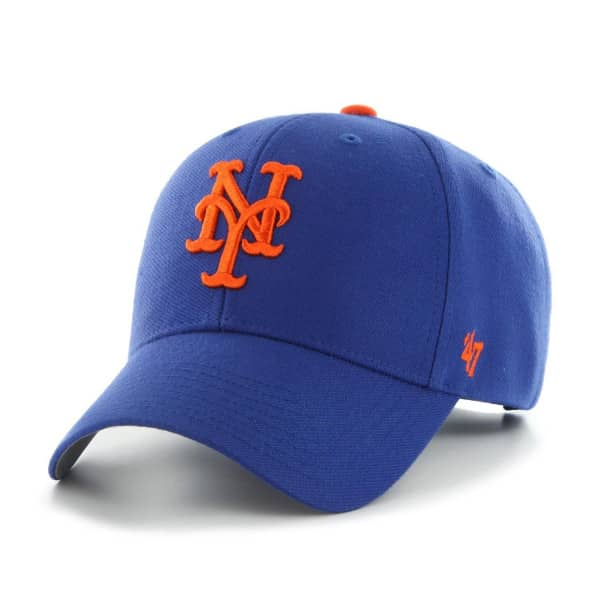 1bc03bce37d3f0 47 Brand New York Mets MVP Adjustable MLB Cap Blue | TAASS.com Fan Shop