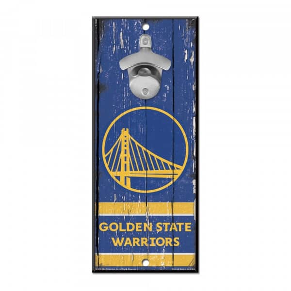 Golden State Warriors NBA Schild mit Flaschenöffner