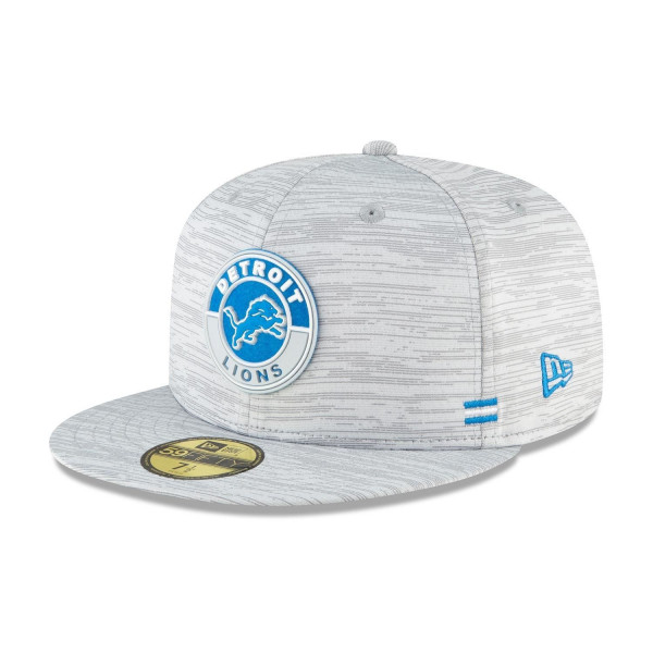 Detroit Lions Official 2020 NFL Sideline New Era 59FIFTY Fitted Cap Road