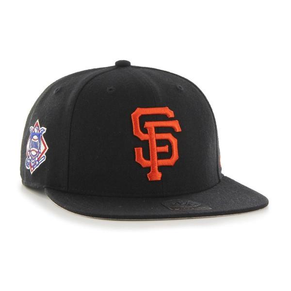wholesale dealer 5ccb1 c4603  47 Brand San Francisco Giants Sure Shot Snapback MLB Cap Black   TAASS.com  Fan Shop