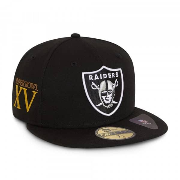 Oakland Raiders Super Bowl XV New Era 59FIFTY Fitted NFL Cap Schwarz