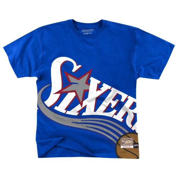Philadelphia 76ers Big Face Mitchell & Ness HWC NBA T-Shirt