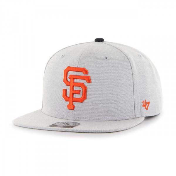 the best attitude 533a3 e0b61  47 Brand San Francisco Giants Boreland Snapback MLB Cap Grey   TAASS.com  Fan Shop