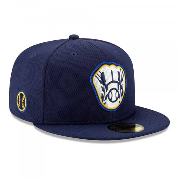 Milwaukee Brewers 2021 MLB Authentic Batting Practice New Era 59FIFTY Fitted Cap