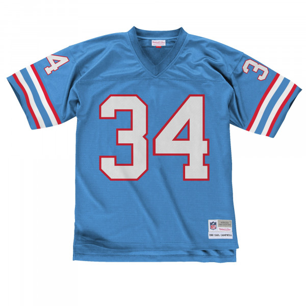 58e32952f Mitchell   Ness Earl Campbell Houston Oilers Replica Throwback NFL ...