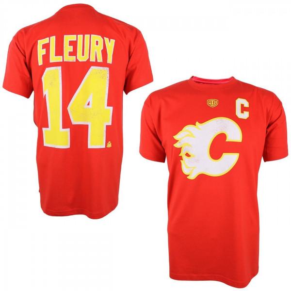 Calgary Flames Theo Fleury #14 Alumni Eishockey NHL T-Shirt