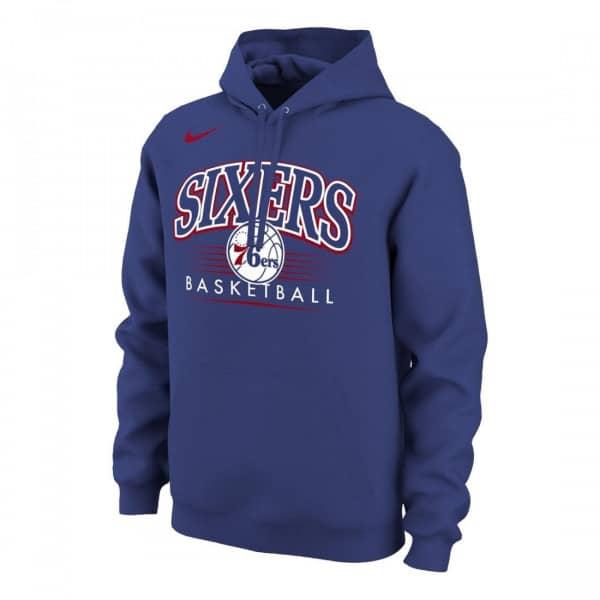 a9b5363c4f4 Nike Philadelphia 76ers Crest Logo NBA Sweatshirt Hoodie Blue   TAASS.com  Fan Shop