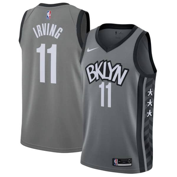 Kyrie Irving #11 Brooklyn Nets Statement Swingman NBA Trikot Grau