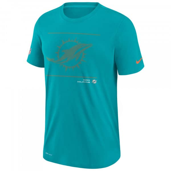 Miami Dolphins 2021 NFL Sideline Team Issue Nike T-Shirt Aqua