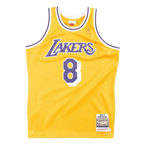 4e44b1903d8 Mitchell & Ness Kobe Bryant #8 Los Angeles Lakers 1996-97 Authentic NBA Jersey  Yellow | TAASS.com Fan Shop