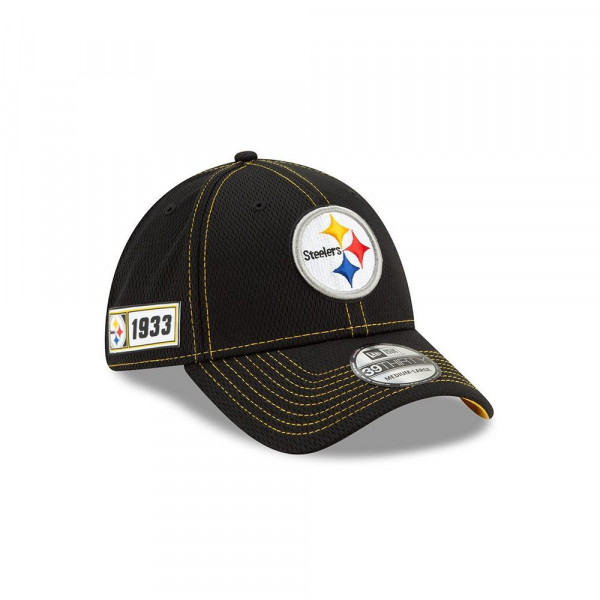 Pittsburgh Steelers 2019 NFL On-Field Sideline 39THIRTY Stretch Cap Road