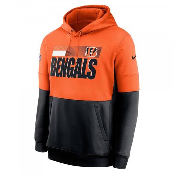Cincinnati Bengals 2020 NFL Sideline Lockup Nike Therma Hoodie