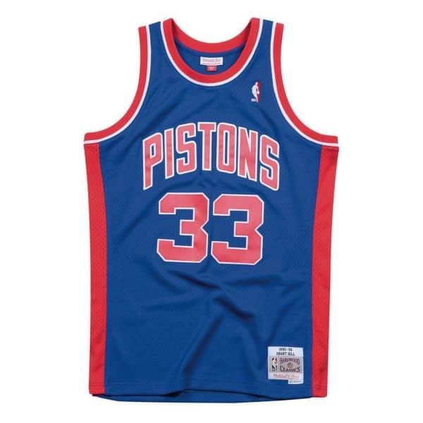 Grant Hill #33 Detroit Pistons 1995-96 Swingman NBA Trikot
