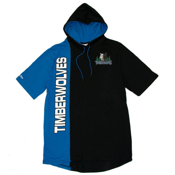 Minnesota Timberwolves Split Mitchell & Ness Short Sleeve NBA Hoodie