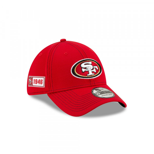 San Francisco 49ers 2019 NFL On-Field Sideline 39THIRTY Stretch Cap Road