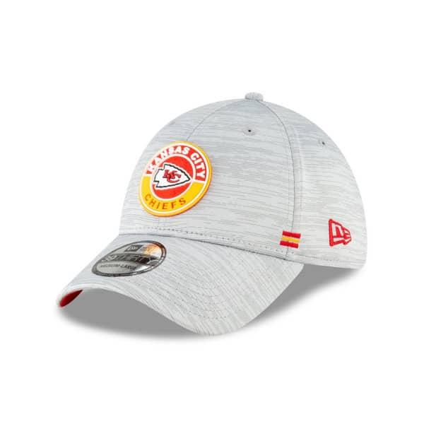 Kansas City Chiefs Official 2020 NFL Sideline New Era 39THIRTY Flex Cap Road