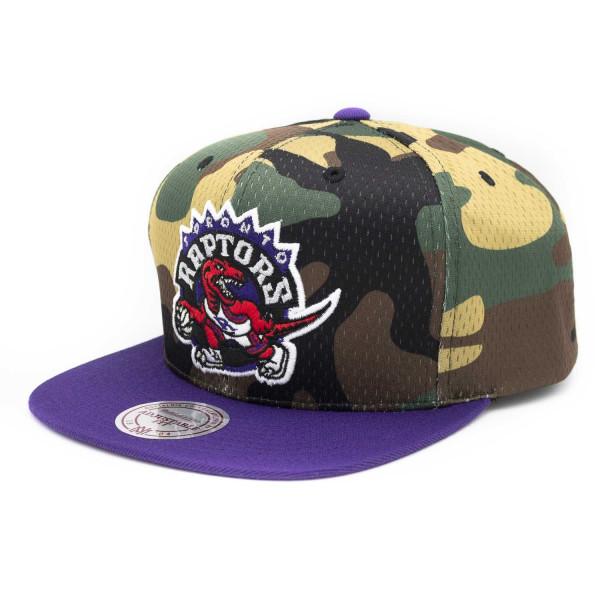 1d87742a105 Mitchell & Ness Toronto Raptors Camo Mesh Snapback NBA Cap | TAASS.com Fan  Shop