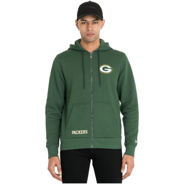 Green Bay Packers Team Logo Wordmark Full-Zip NFL Hoodie